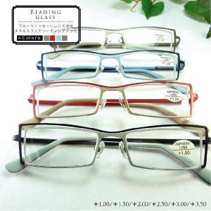 PC老眼鏡 おしゃれなメガネ メタルスクエア リーディンググラス 1063|sakuazul