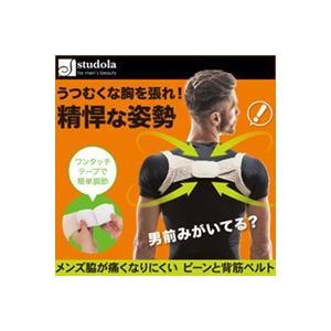 メール便 姿勢 矯正 サポーター メンズ脇が痛くなりにくいピーンと背筋ベルト  送料無料|sakuazul