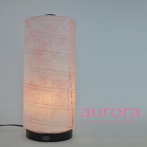 和紙照明 スタンドライト aurora 若狭和紙桃×小梅ピンク|sakura-cer