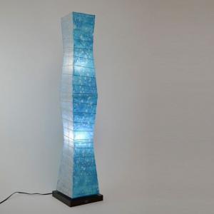 和紙照明 フロアスタンド 深海 小倉流紙ブルー|sakura-cer