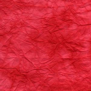 手漉き揉み染め和紙 赤 01|sakura-cer