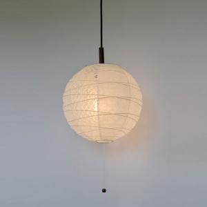 和紙照明 1灯ペンダントライト ツインホワイト 直径30cm|sakura-cer
