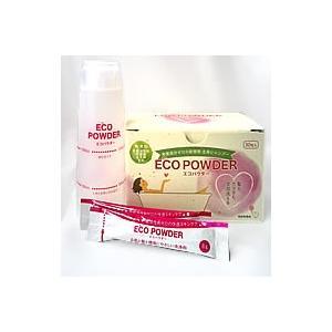 エコパウダー 本体30包+容器セット 髪に、全身に使えるシャンプー 敏感肌 アトピー 赤ちゃんに 界面活性剤、防腐剤、パラベン、エデト酸不使用|sakura891