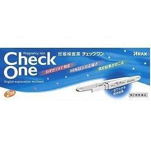 チェックワン 2回用 妊娠検査薬 第2類医薬品 アラックス|sakura891