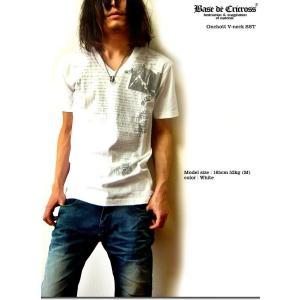 裏プリントに別布貼付でROCKな雰囲気満点の激シブVネックTシャツ!|sakurafullmoon