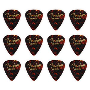 Fender フェンダー ピック ティアドロップ MEDIUM/SHELL(ミディアム/シェル) 12枚 [並行輸入品]【フェンダー ピック】【ゆうパケット対応】 sakuragakki