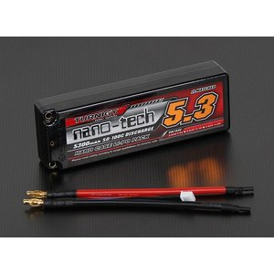 Turnigy nano-tech 5300mah 2S2P 50~100C Hardcase Lipo Pack|sakurahobby