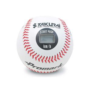 PROMARK プロマーク 野球 スピードガン スピード測定器 球速測定器 ボール型 軟式 硬式 簡単測定 距離測定用メジャー付き LB-990BCA