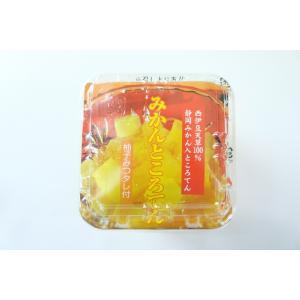 蜜柑ところてん (柚子みつ)(りんご酢使用) 12個入り|sakuraikonnnyaku|02