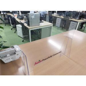 ポリカシールド(出力シート貼り) 600mm×450mm 新型コロナウィルス対策 アクリルよりも丈夫なポリカーボネート樹脂製|sakurain