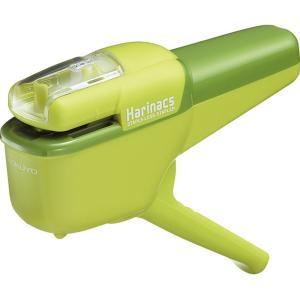 コクヨ 針なしステープラー ハリナックス ハンディ10枚 緑|sakuramart