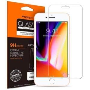 【Spigen】 iPhone8 / iPhone7 対応 薄さ0.4mm ガラスフィルム  高透過...