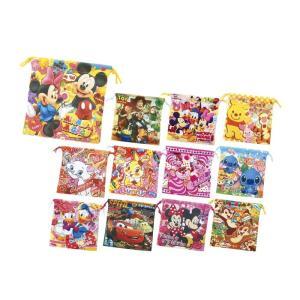 キャラクターカラフル巾着袋  景品 粗品 販促品 記念品 プチギフト ディズニー 入園 入学 子供会 イベント|sakuranboya
