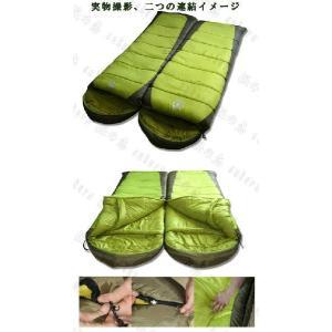 半額セール 耐寒-12℃◆高性能寝袋シュラフ◆キャンプ封筒型連結可能 BIGサイズb2006 sakuranokoi