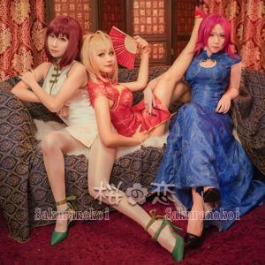 Fate/EXTELLA LINK 風 スカサハorネロ クラウディウスorフランシス ドレイク 風 チャイナドレス 風 コスプレ衣装 コスチュームhhc117