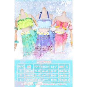 ラブライブ Lovelive トロピカルパレオ 風 コスプレ衣装 水着 ビキニ キャラクター変更可 hhc180|sakuranokoi|02