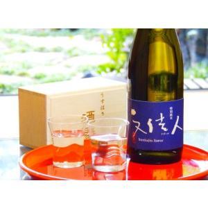 日本酒とグラスのギフトセット (文佳人 特別純米 リズール 720ml + うすはり 五勺盃 ペア 木箱入り)|sakurasaketen