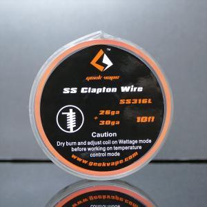 GeekVape SS316 Clapton Wire [クラプトンワイヤー]ステンレス 26G+30G 10FT