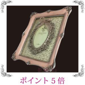 写真立て フォトフレーム レトロ アンティーク調 ロココ ピンク 壁掛け用 おしゃれ 雑貨 sakuraworks