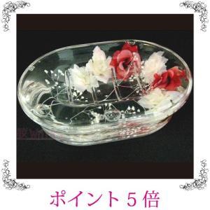 ソープディッシュ ソープトレイ 石鹸 ローズ バラ 薔薇 かすみ草 アクリル おしゃれ 雑貨|sakuraworks