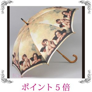 雨傘 長傘 ジャンプ傘 エンジェル 天使 名画 おしゃれ 雑貨 sakuraworks