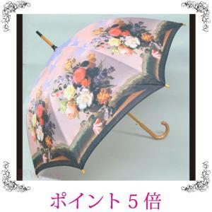 雨傘 長傘 ジャンプ傘 ローズベース バラ 薔薇 名画 おしゃれ 雑貨|sakuraworks