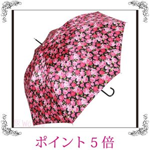 雨傘 長傘 ジャンプ傘 ローズ 薔薇 バラ 赤 おしゃれ 雑貨 sakuraworks