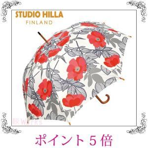 長傘 ジャンプ傘 花柄 白 おしゃれ 雑貨 sakuraworks