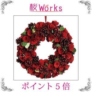 リース クリスマス デコレーション ローズ バラ 薔薇 おしゃれ 雑貨|sakuraworks