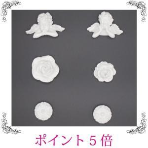 マグネット エンジェル 天使 薔薇 バラ ローズ6個セット 白 おしゃれ 雑貨|sakuraworks
