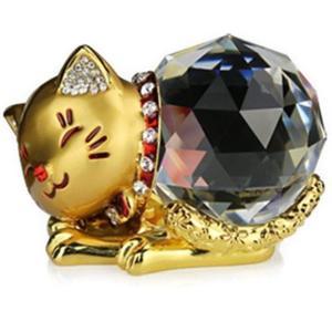 化殺 風水 クリスタル水晶の可愛い幸運・金運招きの子猫です。(^^♪      古来よりねこは招き猫...