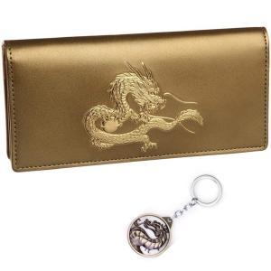 風水 秘伝 22金箔 皇帝龍 長財布 メンズ ウォレット 和装 和柄 財布 日本製
