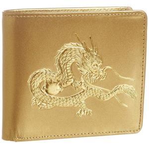 風水 秘伝 22金箔 皇帝龍 二つ折り財布 メンズ ウォレット 和装 和柄 財布 日本製