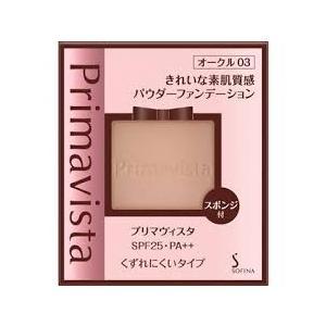 花王 ソフィーナ プリマヴィスタ きれいな素肌質感 パウダーファンデーションUV (くずれにくいタイプ) オークル03 ケース別売り|sakusaku-d