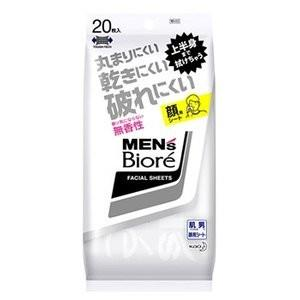 メンズビオレ 洗顔シート 香り気にならない無香性 20枚|sakusaku-d