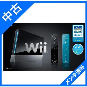 Wii本体 (クロ) Wiiリモコンプラス2個、Wiiスポーツリゾート同梱 箱付き|sakusaku3939