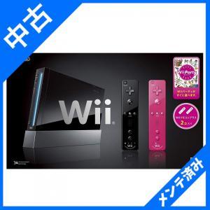 Wii本体(クロ) Wiiリモコンプラス2個、Wiiパーティ同梱 箱イタミあり|sakusaku3939