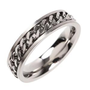 指輪 メンズ リング シンプル シルバー おしゃれ 安い ピンキー 喜平チェーン ブラック 5mm 6202|sakuto-accessory|03
