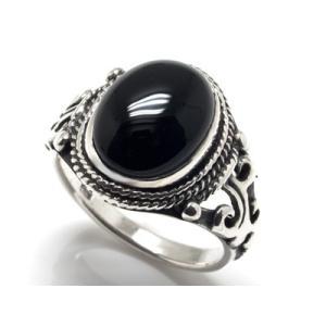 オニキスシルバーリング 15号〜23号 指輪 925 メンズ...