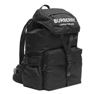 バーバリー BURBERRY リュックサック 8010608 BACKPACK ロゴプリント ナイロン バックパック BLACK ブラック|salada-bowl