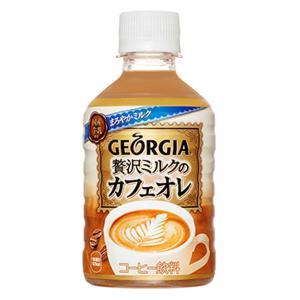 1ケース コカコーラ ジョージア 贅沢カフェラテ 280mL PET 飲料 飲み物 ソフトドリンク ...