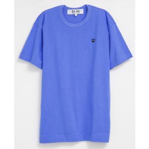 コムデギャルソン PLAY Tシャツ メンズ 男性用 ブルー×ブラック BLUE×BLACK Tシャツ メンズ ロゴ おしゃれ 半袖 オシャレ ブランド スポーツ トレーニング|salada-bowl