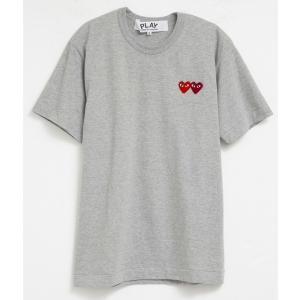 コムデギャルソン Tシャツ メンズ 男性用 グレー×レッド ロゴ おしゃれ 半袖 オシャレ ブランド スポーツ トレーニング|salada-bowl