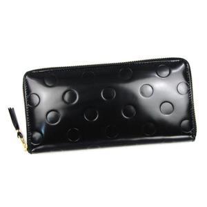 コムデギャルソン COMME des GARCONS 長財布 ラウンドファスナー レザー 革 ドット エンボス 型押し ブラック 黒 ブランド プレゼント ギフト 新品 正規