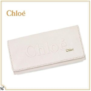 841cb14c59a4 新作 クロエ Chloe レディース 財布 長財布 二つ折り長財布 SHADOW シャドウ リボン 3P0321 7A733 002  ライトグレー(PEARL)