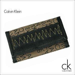 Calvin Klein Jeans CKJ カルバンクラインジーンズ キーケース キー・ケース キーホルダー メンズ 新作 ナイロン ブラック+カーキ|salada-bowl
