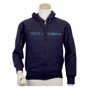 ドルチェ&ガッバーナ Dolce&Gabbana D&G フード付きジップアップパーカー 大きいサイズ レディース フード メンズ トレーナー ブランド ネイビー|salada-bowl