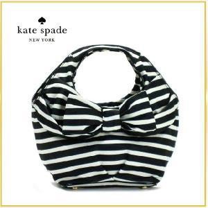 新作 Kate Spade(ケイトスペード)/バッグ/ハンドバッグ レディース リボン プランド ボーダー NYLON STR|salada-bowl