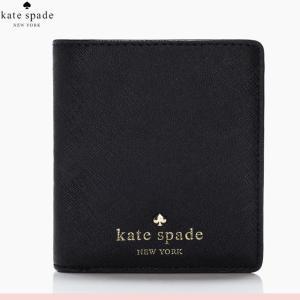 ケイト・スペード kate spade 二つ折り財布 サフィアーノ ブラック レディース ファスナー ボタン 財布 新作 正規品 ブランド 本革 ぶらんど 女性 人気 おしゃれ|salada-bowl