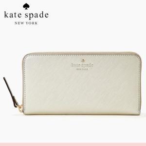 ケイト・スペード kate spade ラウンドファスナー 長財布 ゴールド レディース ボタン 財布 新作 正規品 ブランド 本革 ぶらんど 女性 人気 おしゃれ|salada-bowl